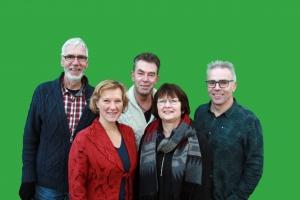 Dorpsgoed Big Five groene achtergrond